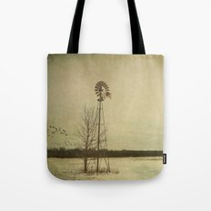 While the wind moans a dirge to a coyote's cry... Tote Bag