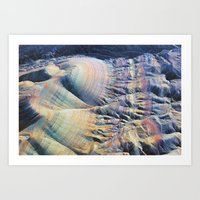 Evening Flight Over the Martian Lines Art Print