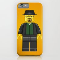 iPhone & iPod Case featuring Lego Walter White - Vector by FAMOUS WHEN DEAD