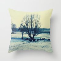 Winter  - JUSTART © Throw Pillow