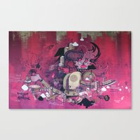 Dont Worry - Party Hard (Pink) Close Up Canvas Print