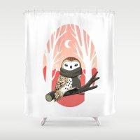 Winter Owl Shower Curtain