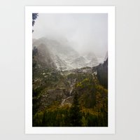 A Valley in the Tetons Art Print