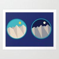 Day Mountain, Night Moun… Art Print