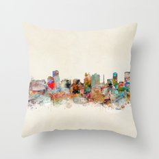orlando florida skyline Throw Pillow