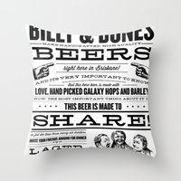 Billy & Bones Hand Craft… Throw Pillow
