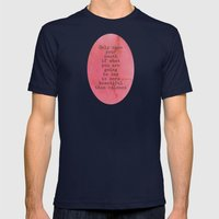 The Beauty of Silence Mens Fitted Tee Navy SMALL