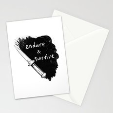 Endure and Survive Stationery Cards