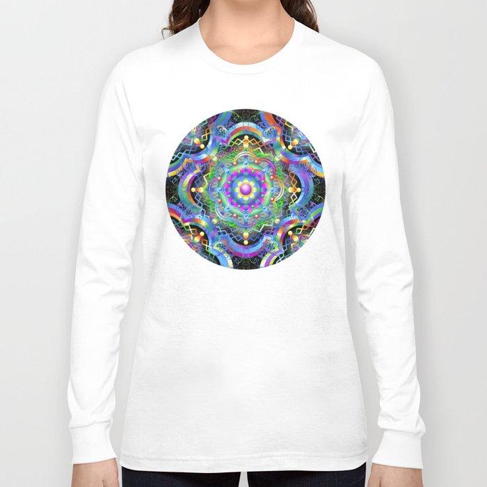 Mandala Psychedelic Art Design Long Sleeve T Shirt By