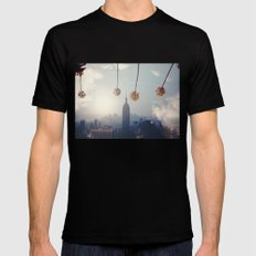 COAST TO COAST Black Mens Fitted Tee SMALL