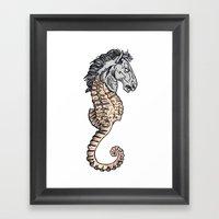 Evil Horse Framed Art Print