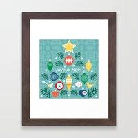 MCM Joyeux Noel Framed Art Print