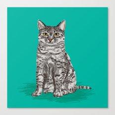 Cute Sitting Cat Egyptia… Canvas Print
