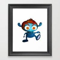 Mr. Blue Framed Art Print