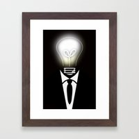 Lightning Thoughts Framed Art Print
