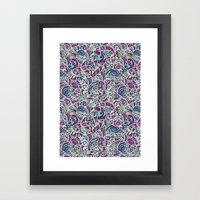 Tangle Pattern #001 Framed Art Print