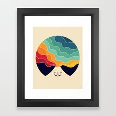 Keep Think Creative Framed Art Print