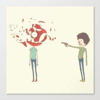Shoot Canvas Print