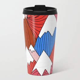 Travel Mug - The Red Mountains (Pattern) -  Steve Wade ( Swade)