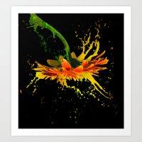 Liquid Daisy Art Print