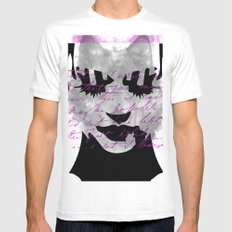 woman White Mens Fitted Tee SMALL