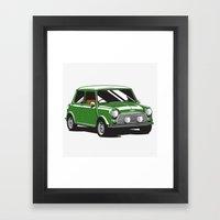 Mini Cooper Car - Britis… Framed Art Print