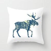 Moose Two Throw Pillow