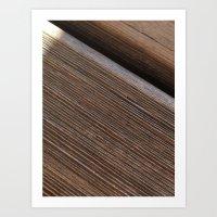 Wooden Beams Art Print