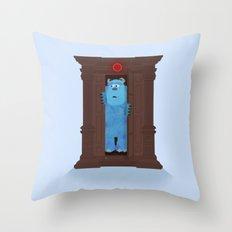 Monster's Wardrobe Throw Pillow
