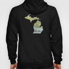 Ships Along the Shore - Michigan circa 1868 Hoody