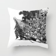 Throw Pillow featuring Scary Soul by Bimorecreative