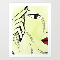 Art Print featuring SKETCH by Pinar Demirkiran