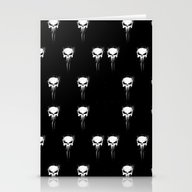 Stationery Cards featuring Skulls Pattern by Ururuty