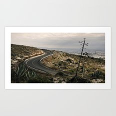 Al fondo Cabo de Gata. Art Print