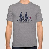 On Wheel Love Mens Fitted Tee Athletic Grey SMALL