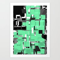 Digital Squares Art Print