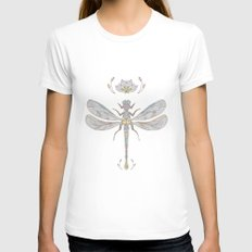 Dragonfly Womens Fitted Tee White SMALL