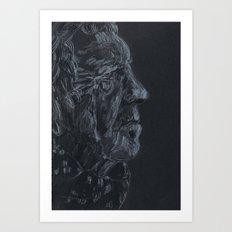 Black and white portrait  Art Print