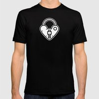Loveheart Lock Mens Fitted Tee Black SMALL