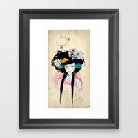 Nenufar Girl Framed Art Print