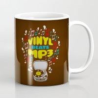 Vinyl Beats Mp3 Mug