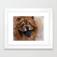 Chow dog portrait Framed Art Print