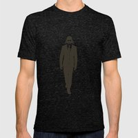 The suit is strong with this one. Mens Fitted Tee Tri-Black SMALL