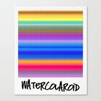 Watercolaroid Canvas Print