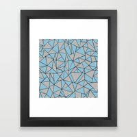 Ab Blocks Blue #2 Framed Art Print