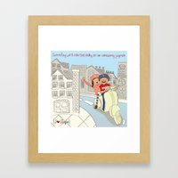 I {❤} Vespa Framed Art Print