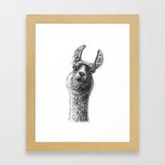 Cute Llama G135 Framed Art Print