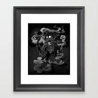 Deathly Bear Framed Art Print