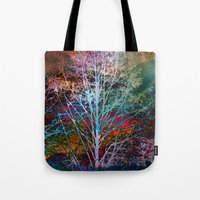 trees in the night Tote Bag