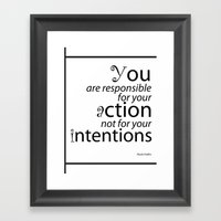 Inspirational Quotes Framed Art Print